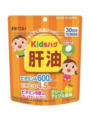 ITOH Детский Рыбий жир / витамины A D В со вкусом яблока (30 дней)
