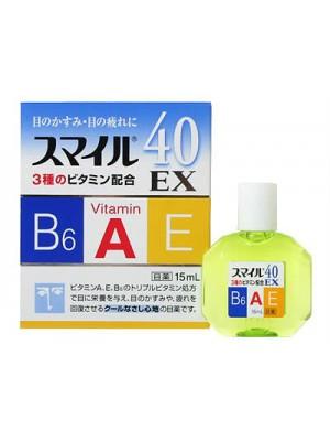 Японские капли для глаз LION SMILE 40 EX 15ml