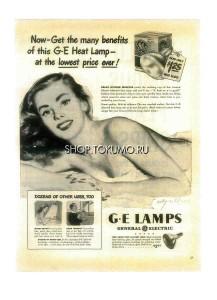 "Постер ВИНТАЖ ""ДЕВУШКА GENERAL ELECTRIC"""